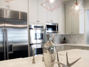 Affordable luxury white marble kitchen